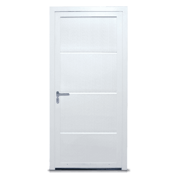 side entrance door Style in traffic white